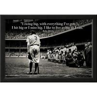 Buy cheap Motivational Babe Ruth Swing Big Quote Sports Poster Print from Wholesalers