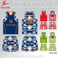 Buy cheap Latest Sublimation Wholesale Blank Custom Best Basketball Jersey Design from wholesalers