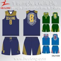 Buy cheap Custom College Cheap Reversible Sublimation Basketball Uniform from wholesalers