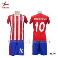 Buy cheap New Design Red & White Line Custom Subliamtion Soccer Jersey from wholesalers