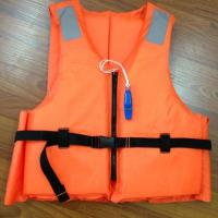 Buy cheap Customized Orange Reflective Life Vest with Lifesaving Whistle from Wholesalers