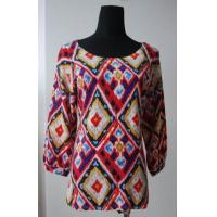 China Knitted Ladies printed 100%cashmere crewneck pullover4 on sale