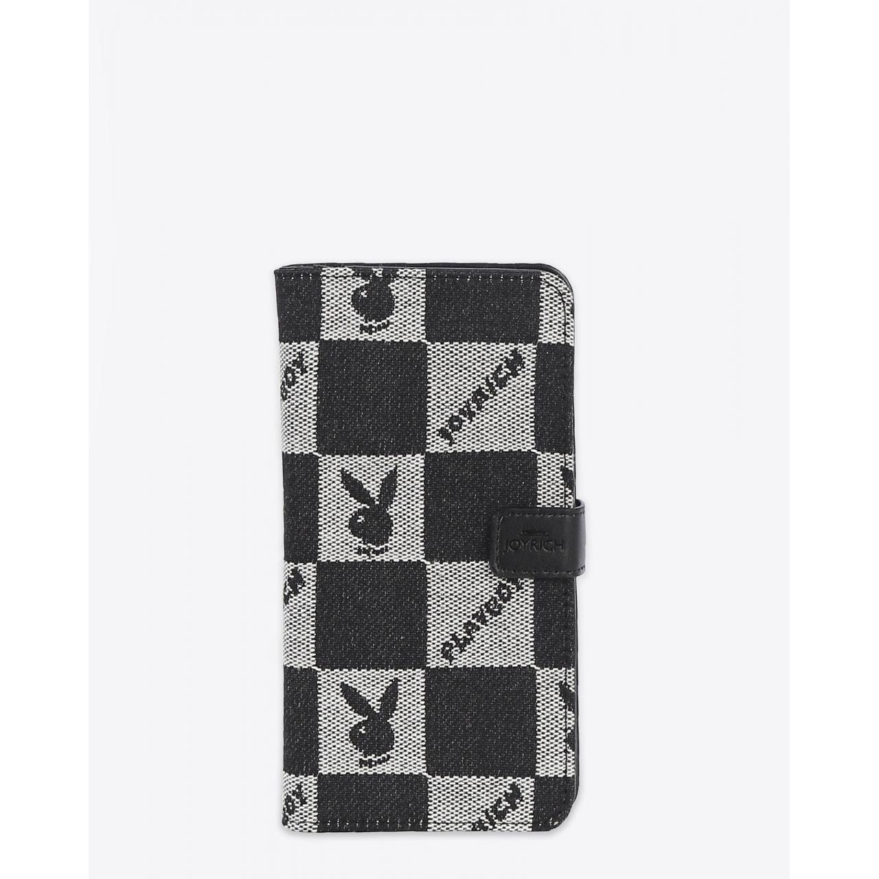 China Iconic Checkered iPhone 6 Plus Flip Case / Black on sale
