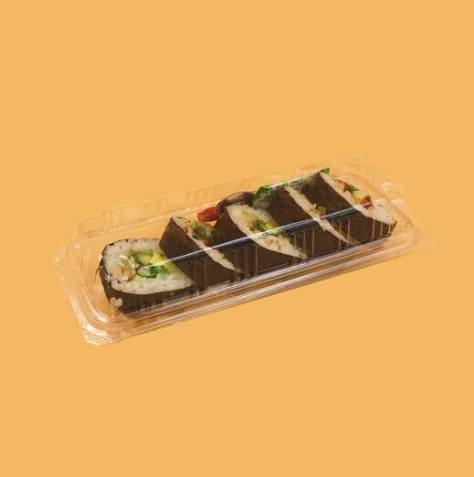 Quality Transparent Sushi Plastic Tray Packaging with Customized LOGO for sale