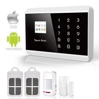 China IOS Android APP GSM&PSTN Touch Pad Home Alarm Security System on sale