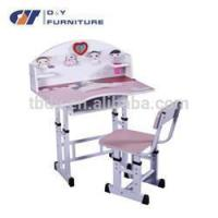 China painting school children desk and chair with low price factory