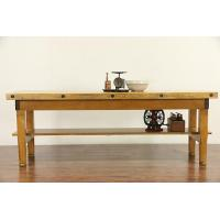 China Butcher Chopping Block, Early 1900's Kitchen Island, Wine Table or Work Counter on sale