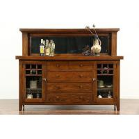 Buy cheap Arts & Crafts Mission Oak 1900 Antique Craftsman Sideboard Server, Mirror from wholesalers