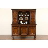 Buy cheap Country French Cherry & Elm 1890 Antique Vaisselier Pewter Cupboard from wholesalers