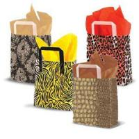 Buy cheap Frosted Animal Print Shoppers with Tri Fold Handles from Wholesalers