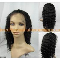 China African American Natural Human Hair Wigs Natural Looking 10 Inch on sale