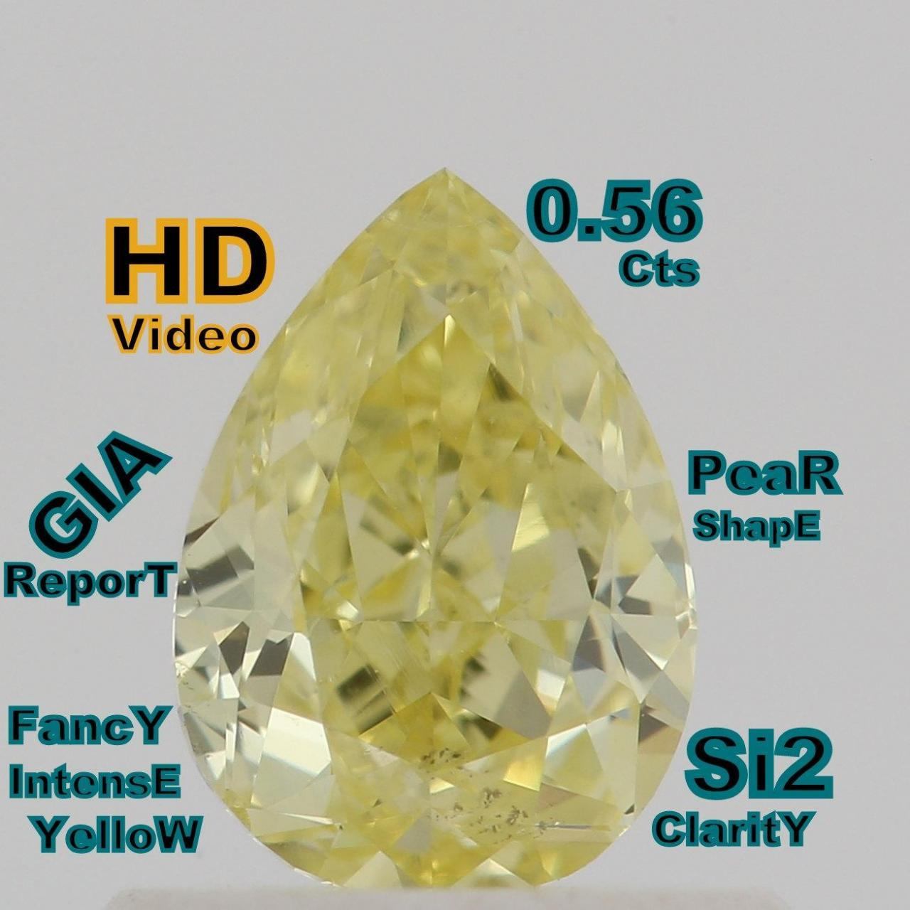 Buy cheap GIA CERTIFIED 0.56 Cts Natural Intense Yellow Color Pear Shape Loose Diamond L4706 from Wholesalers