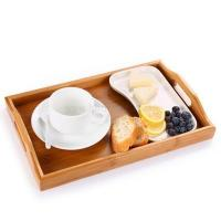 China Factory Made LFGB Certificated Bamboo Serving Tray Natural factory