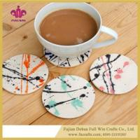 Buy cheap Customized Ceramic Coaster for Wine Coffee Tea Beverage Coaster from Wholesalers
