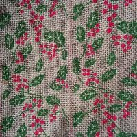 Buy cheap 60'' 10OZ Dots Printing Burlap For Christmas and Party Decor from wholesalers
