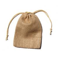 Buy cheap Hessian Gift Bags Natural 4''*6'' With Drawstring from wholesalers