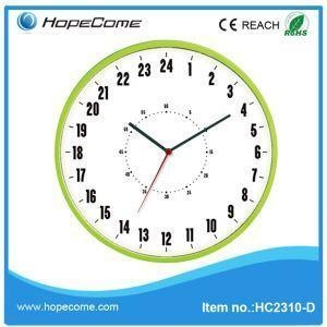 Quality Plastic 24 Hour Wall Clock for sale