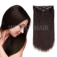 """Quality 18""""Clip in Hair Extensions Brazilian Human Hair for Women 50g 4Pcs Dark Brown #2 Color wholesale"""