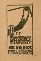 Buy cheap Rare Vintage Poster Of World Champion Soccer Game Urugay Montevideo Fifa C. 1930 from wholesalers
