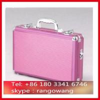 Pink ABS Aluminum Briefcase With Compartment