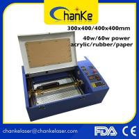 Quality CK400/2030/3040 Rubber stamp laser Engraving &Cutting Machine CO2 wholesale
