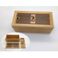 Buy cheap Tea Set Bamboo Tea Box With Hollowed-out Lid from Wholesalers