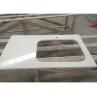 Buy cheap Engineered Artificial Stone Slab Countertop With Sink Shape Ease Edged from Wholesalers