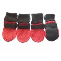 Paw Protector Dog Boots Breathable Soft Sole and Nonslip Set of 4 Color Red Size Small