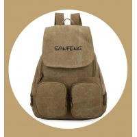Buy cheap Popular Waxed Canvas Backpack for Girls, Fashionable Casual Gear Backpack Factory Price from Wholesalers