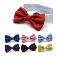 China Wholesale Nice Looking Colorful satin necktie bowtie factory