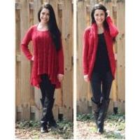 Buy cheap Simply Noelle red Convertible sweater top or cardigan wrap S to XL Top seller! from Wholesalers