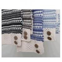 Buy cheap Simply Noelle Nordic stripe scarf with buttons winter brown, blue, black from Wholesalers