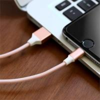 Rose gold nylon braided cable mobile phone micro usb cable for samsung android iphone