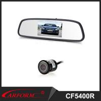 China 4.3 inche rearview mirror with camera, rear view parking sensor system for 12V car on sale