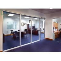 110 Series Aluminium Office Partition Easy Assembly With Clear / Frosted Glass