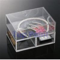 China 2 layered acrylic organizer box factory