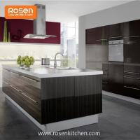 Buy cheap Build in New Painting High Gloss Wood Grain Formica Laminate Kitchen Cupboards Cabinets from wholesalers