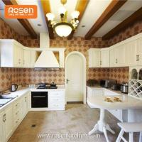 Buy cheap Modern Wooden New Country Style Hand Painted Solid Dark Oak Kitchen Beautiful Kitchen Cabinets from wholesalers