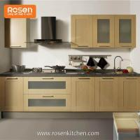 Buy cheap Frameless Shaker Country Style Pvs Stained Wood Grain Color Plywood Finish Kitchen Cabinets from Wholesalers