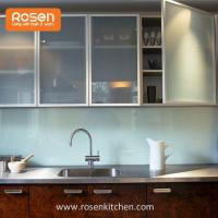Buy cheap Frosted Glass Inserts Doors Front for Kitchen Cabinets from wholesalers