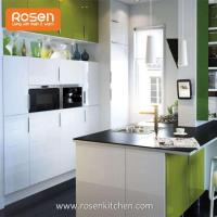 Buy cheap Kitchen Storage Wall Cabinets with White Stained Glass Doors from wholesalers