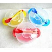 Food grade Children silicone bowl with spoon, baby sucker bowl, baby silicone dinner bowl