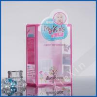 cute design baby lotion plastic clear packaging box