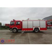 Buy cheap Gross Weight 16000kg Fire Fighting Vehicles , 4500L Water Container Fire Pumper Truck from Wholesalers