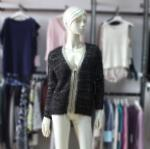 China Cashmere Sweater Ladies Fashion Front Zip Cardigan Sweater K889 on sale