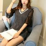 Buy cheap Cashmere Sweater Lace sleeve Pullover 1706238 from Wholesalers