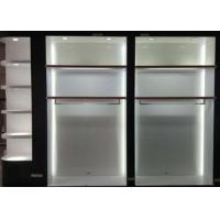 Buy cheap Matte White Wooden Retail Clothing Fixtures Apparel Store Shelves With LED Lights from Wholesalers