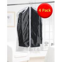 Value Pack 4x Clear Suit Bags - Clear with White Trim