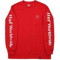 Buy cheap HUF Domestic LS Tee, Red from Wholesalers