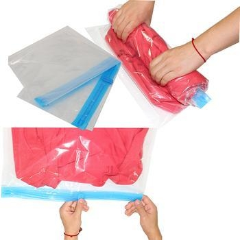 China PA+PE Roll-Up Organizer save space clear storage bag factory